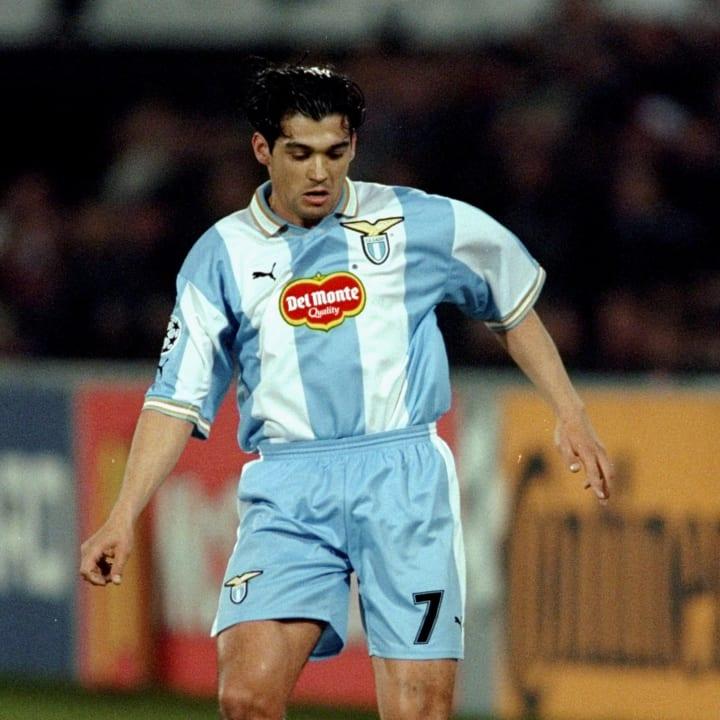 ergio Conceicao of Lazio on the ball