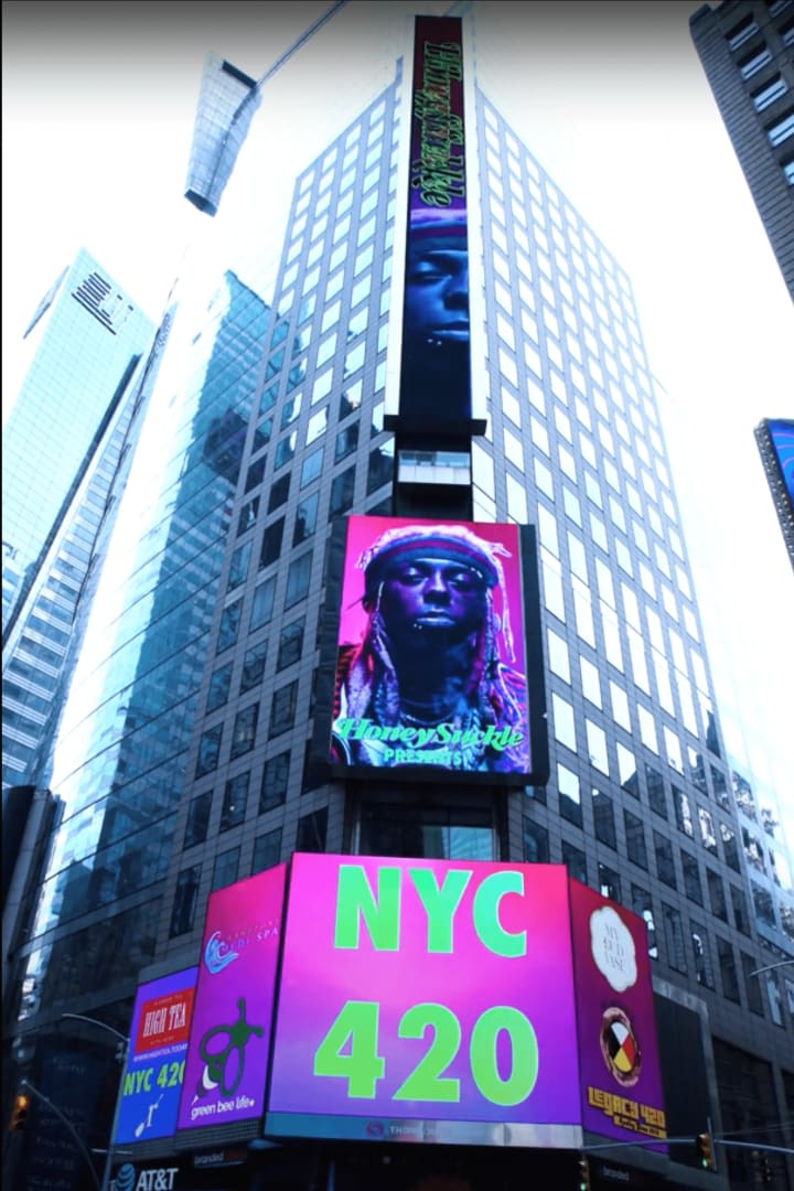 Honeysuckle Lil Wayne Times Square