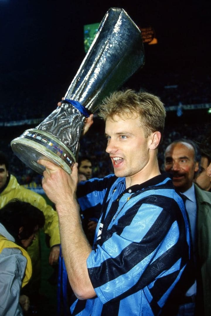 Dennis Bergkamp was the joint-top scorer of the competition with eight