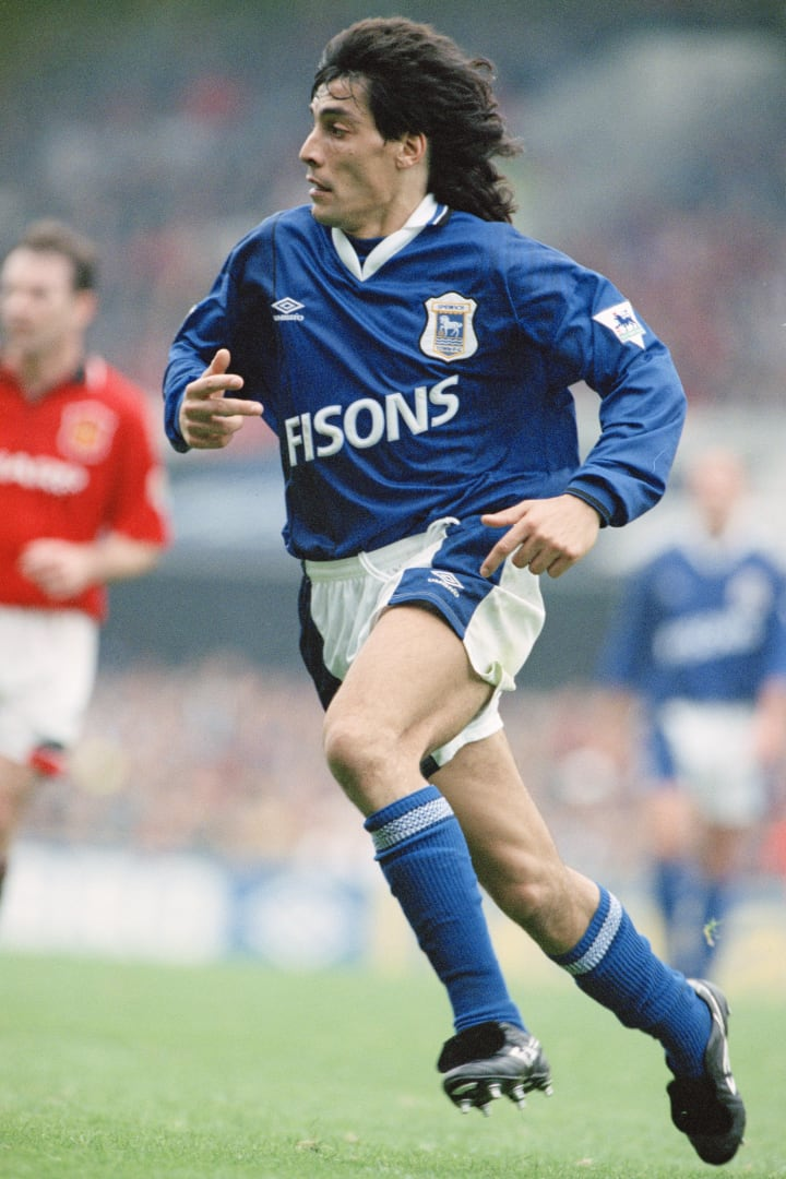 Adrian Paz spent just one season with Ipswich Town in the mid-1990s