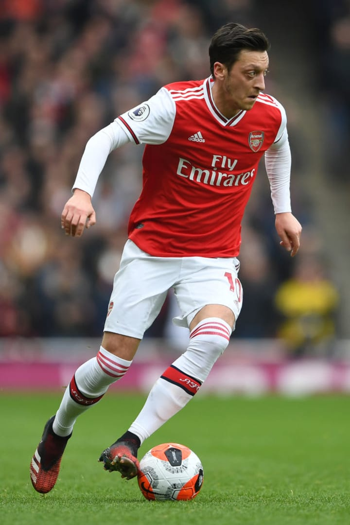 Mesut Ozil has made 18 Premier League appearances for Arsenal this season