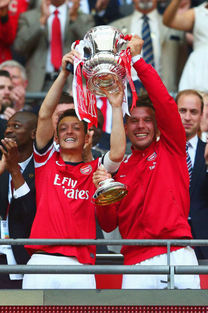 Mesut Ozil won multiple FA Cups during his time with Arsenal