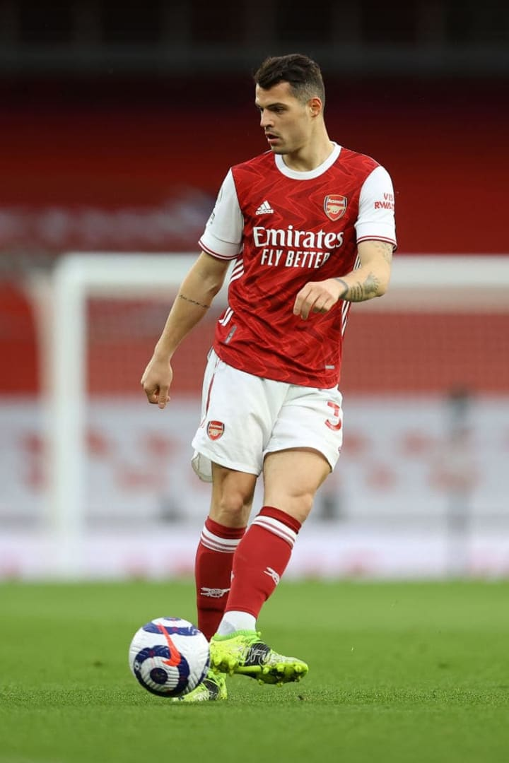 Granit Xhaka is a regular feature when it comes to discussing Arsenal's flaws