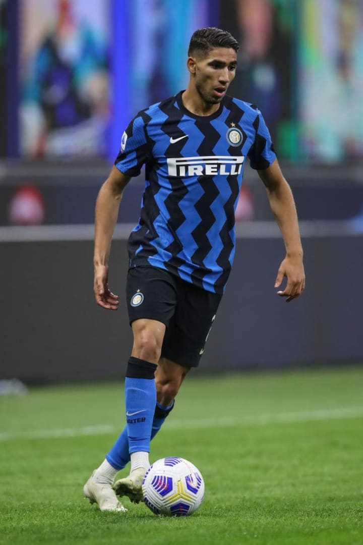 Inter have confirmed Hakimi has tested positive for coronavirus