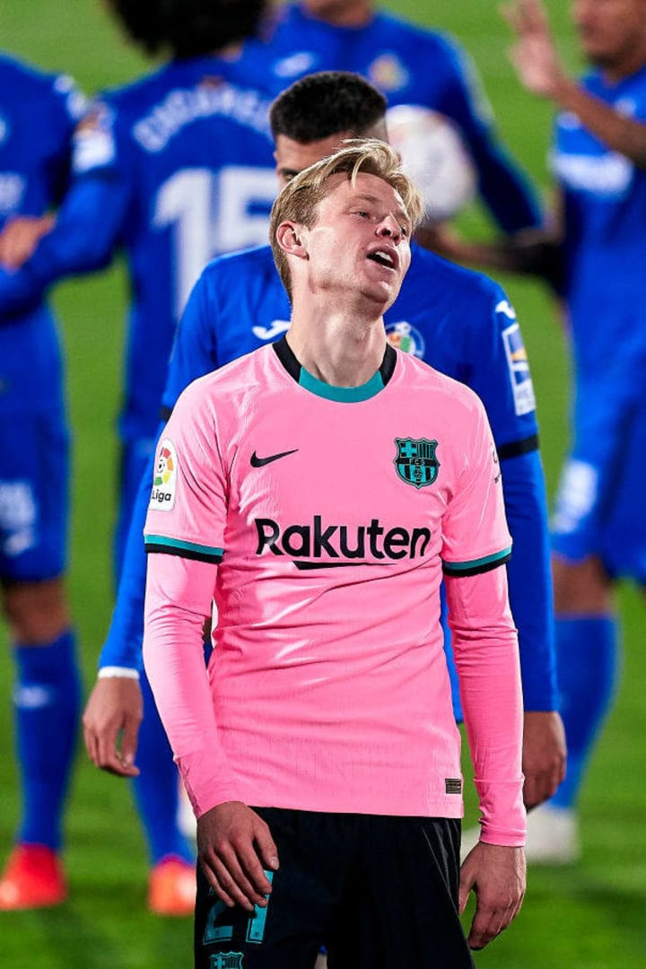 De Jong committed a clumsy foul for the only goal of the game
