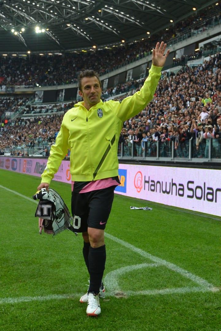 Juventus' forward Alessandro Del Piero w