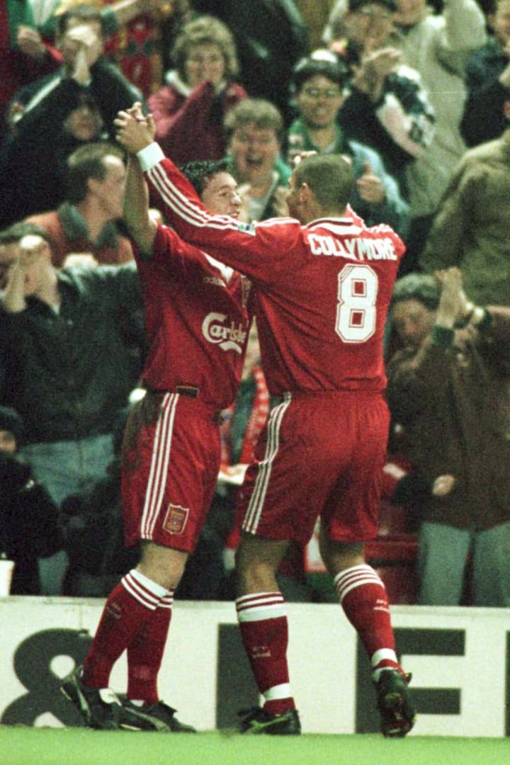 Stan Collymore (right) played the role of provider much more often than Robbie Fowler