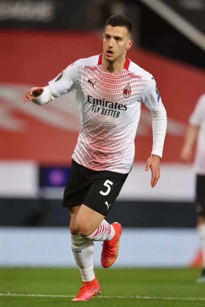 AC Milan defender Diogo Dalot played against his parent club Manchester United