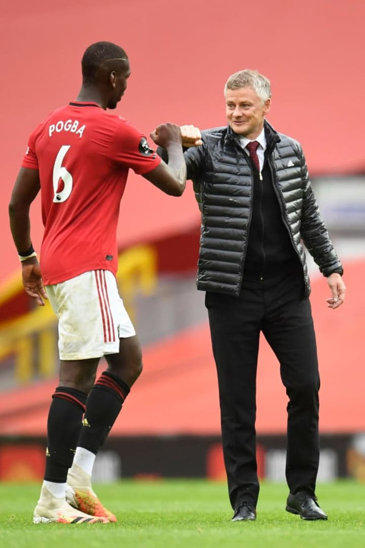 It's no longer all smiles between Pogba and Solskjaer.