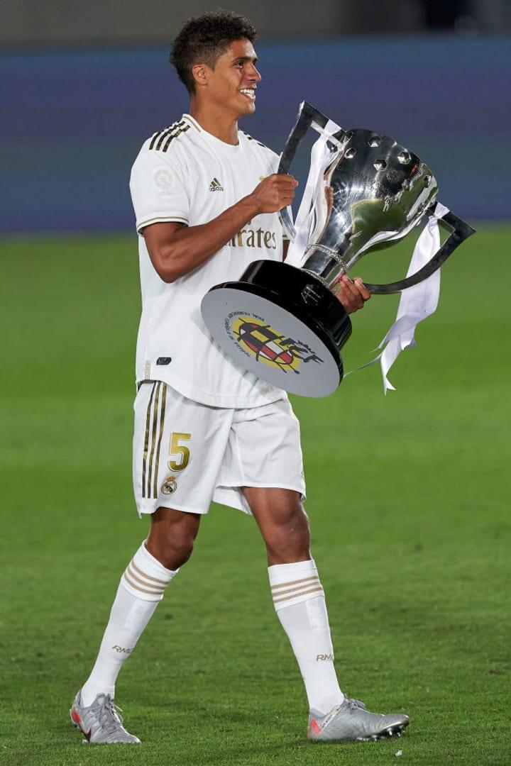 Raphael Varane won La Liga with Real Madrid recently