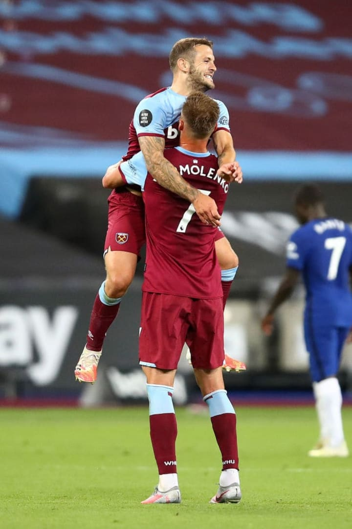Wilshere scored once in 18 appearances for West Ham