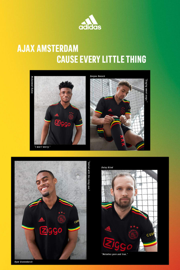 Several Ajax players helped to model the new kit