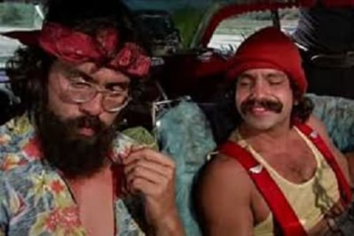 "Cheech and Chong in a scene from ""Up In Smoke"""