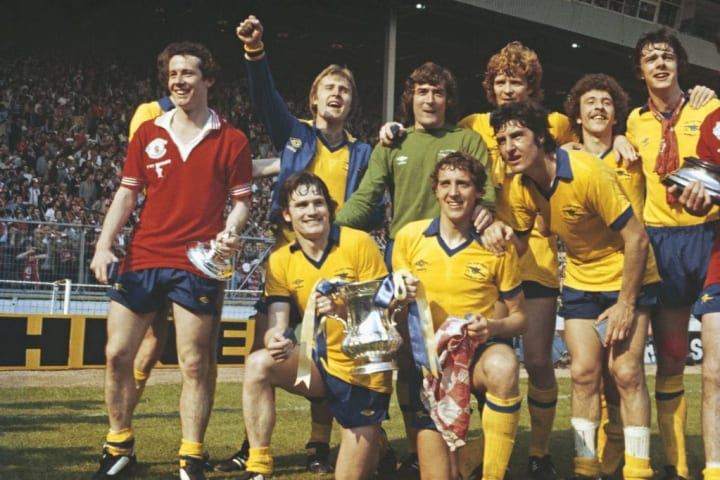 Arsenal celebrate their 1979 FA Cup final win
