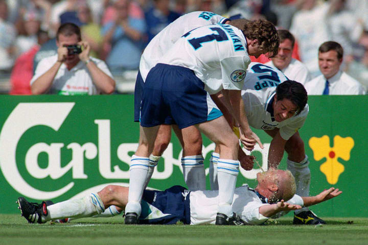 Paul Gascoigne and the England team were criticised for their dentist chair celebration