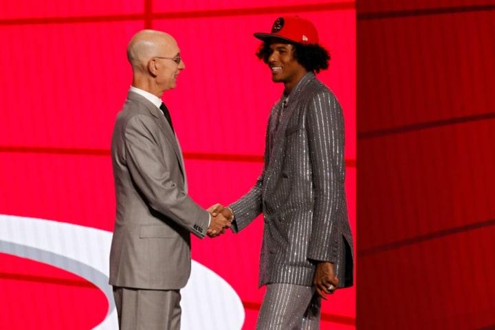 Adam Silver, Jalen Green, Houston Rockets, NBA Draft