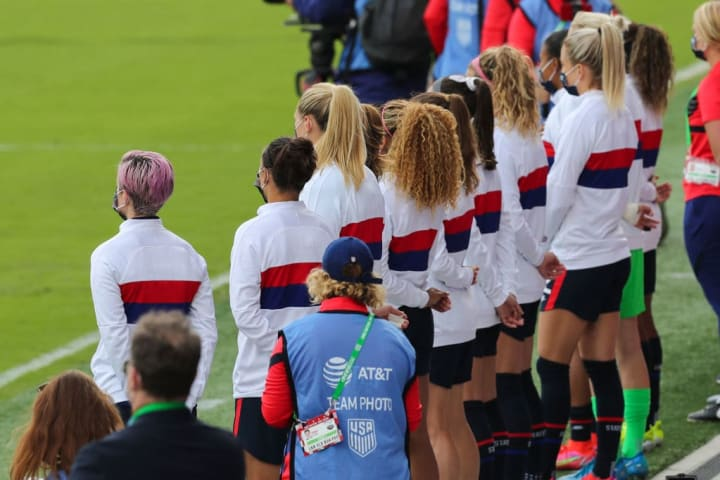 The squad did not take the knee for the final two SheBelieves Cup matches