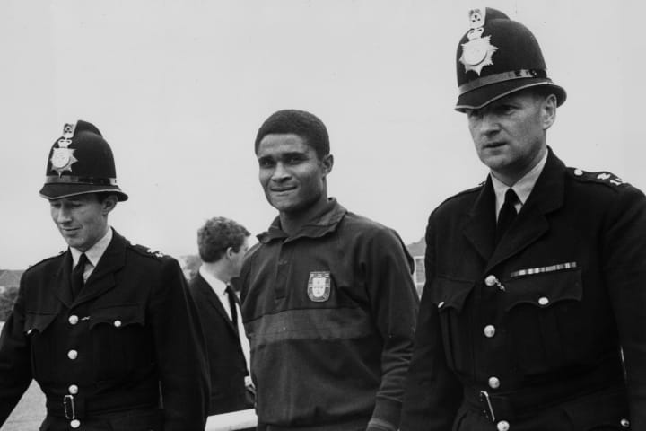 Eusebio was only stopped by a man-marking job from Nobby Stiles