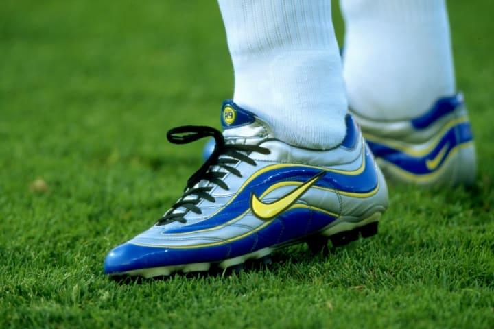 A close-up of Ronaldo's boots