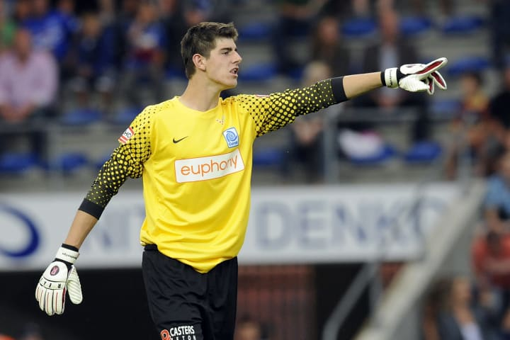 Thibaut Courtois made the first of 45 appearances for Genk as a 16-year-old