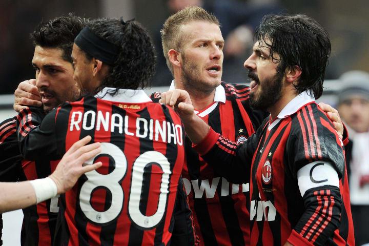Marco Borriello, Ronaldinho, David Beckham, Gennaro Gattuso