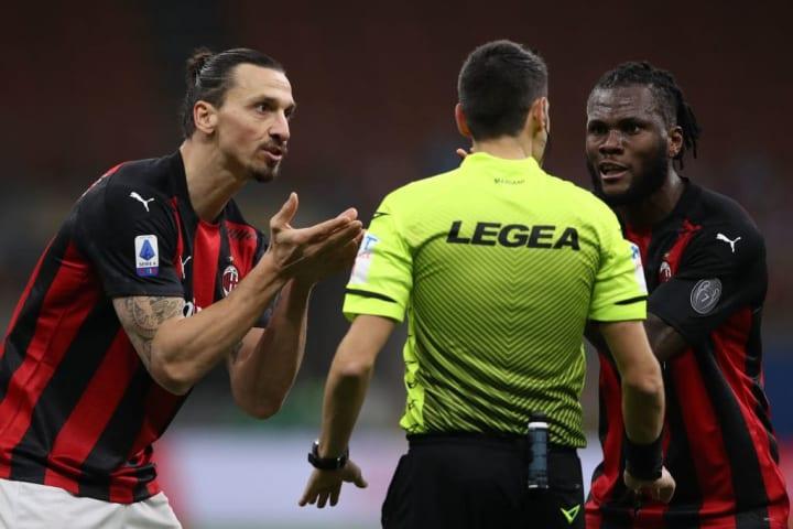 Zlatan Ibrahimovic, Franck Kessie, Valerio Mariani