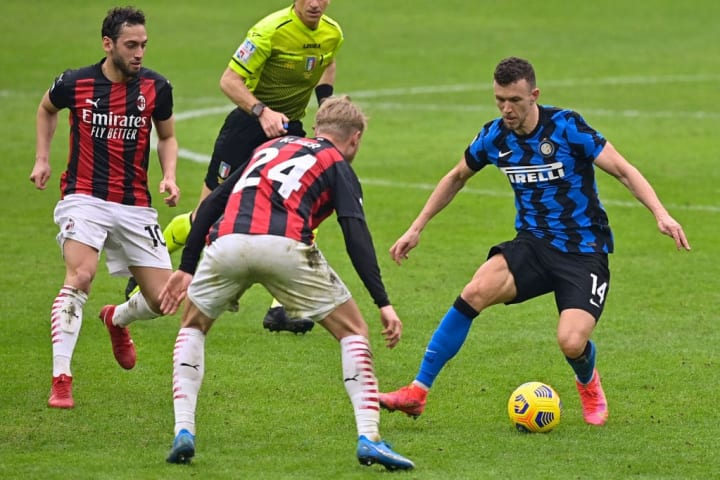 Perisic in azione contro il Milan