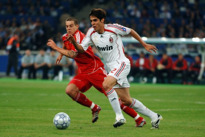 Kaka's Champions League success with Milan led to the Ballon d'Or