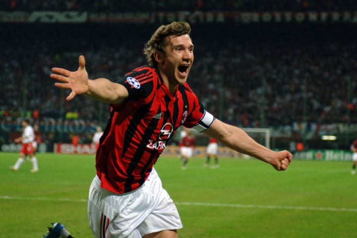 Shevchenko won the Champions League in 2003 with Milan