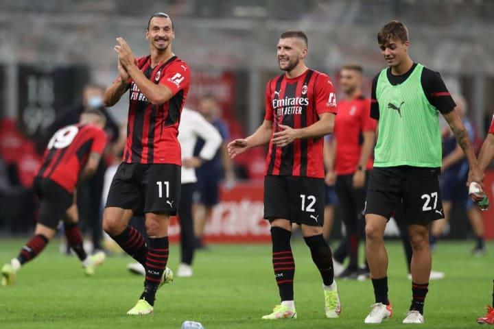 Zlatan Ibrahimovic, Ante Rebic, Daniel Maldini