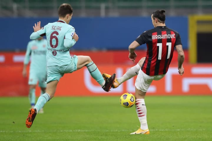Azione di gioco durante l'ultimo Milan-Torino