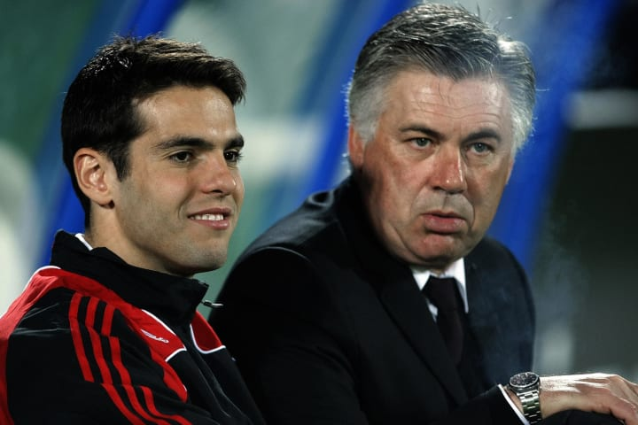 AC Milan's Brazilian forward Kaka and co