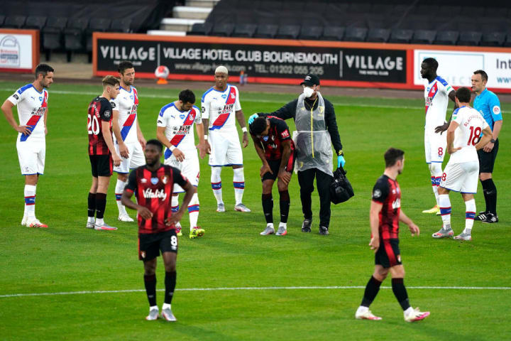 Bournemouth players looking dejected