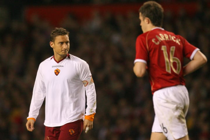 AS Roma's Italian captain and midfielder...