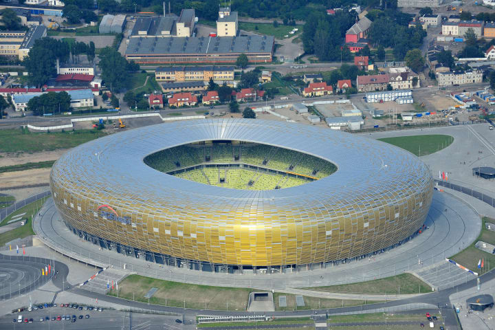 Gdansk City Stadium is a beautiful example of modern football architecture