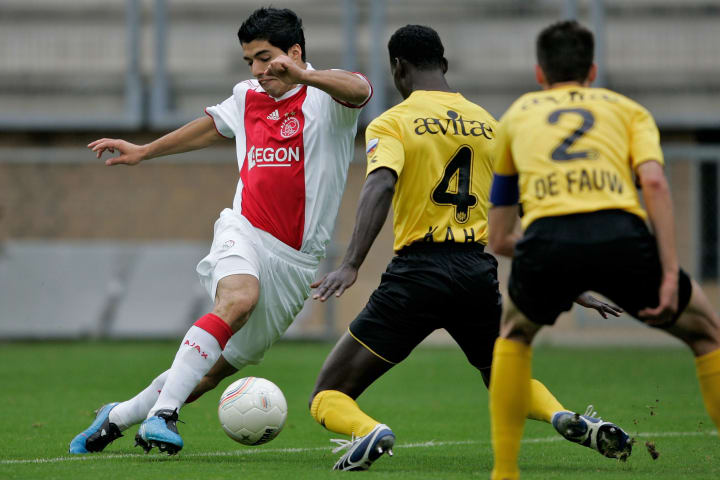 Suarez in action against Roda JC Kerkrade