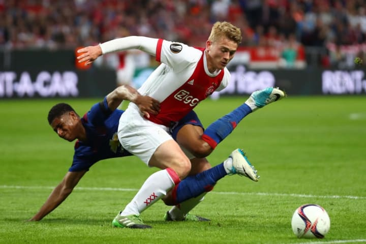 De Ligt was only 17 when he first made his mark at Ajax