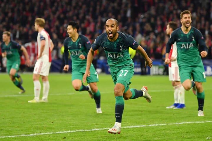 Lucas Moura Tottenham Ajax Gol fora Uefa Champions League
