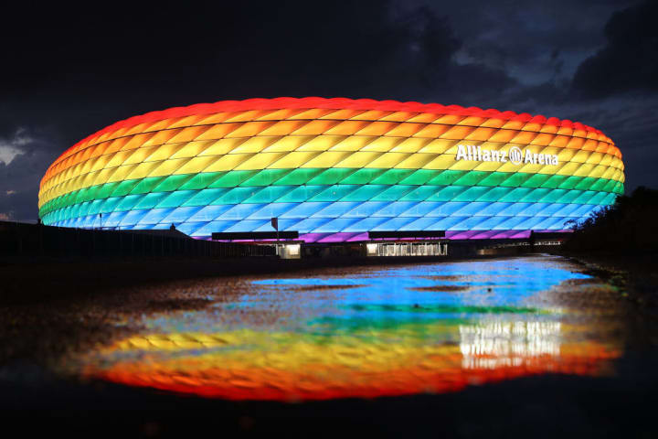 UEFA refused to allow the Allianz Arena to bit illuminated in rainbow colours
