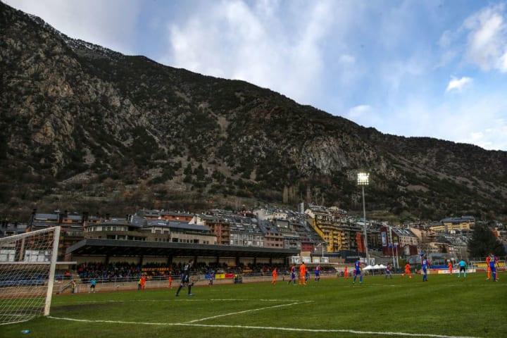 Estadi Comunal D'Andorra La Vella Androrra Cenário Estádio