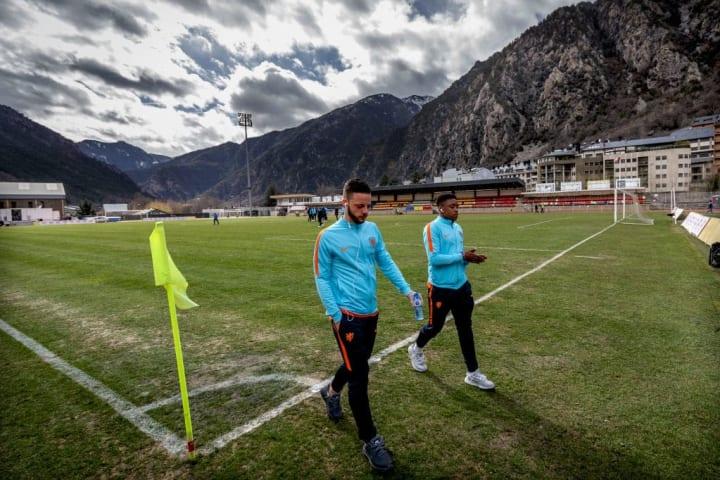 The Dutch Under-21 side visit Andorra's Estadi Comunal D'Andorra La Vella