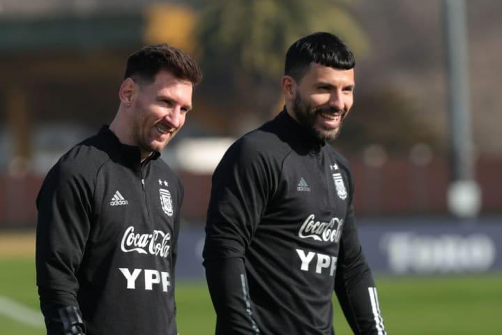 Messi Agüero Carreira Parceria Argentina Seleção