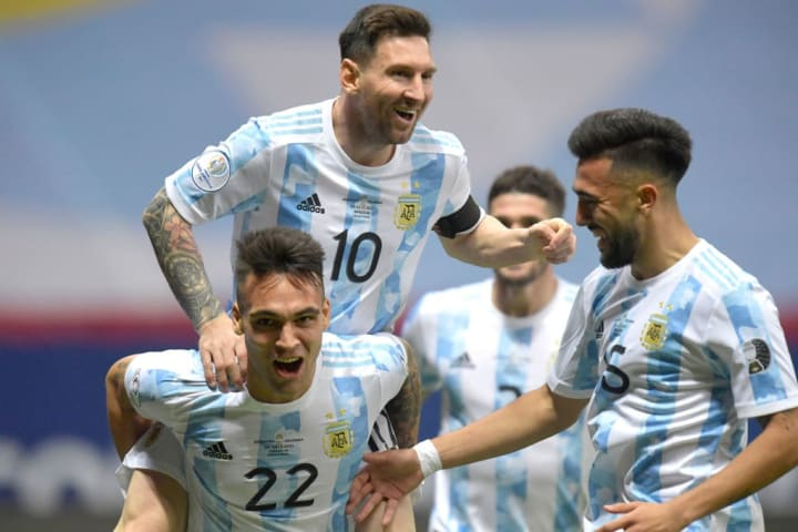 Lautaro Martinez, Lionel Messi, Nicolás Gonzalez