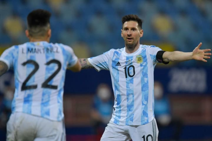 Lionel Messi, Lautaro Martinez