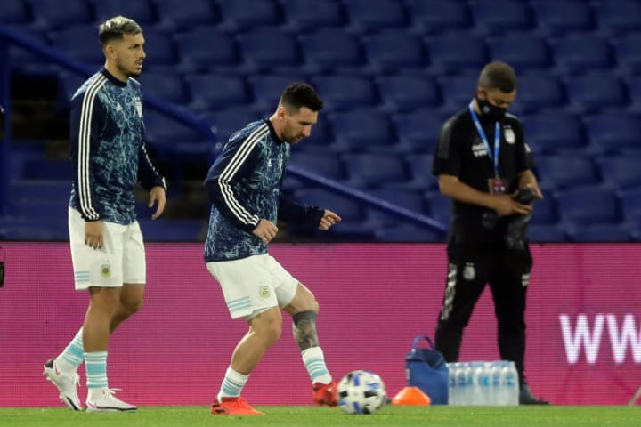 Paredes and Messi have played together for Argentina