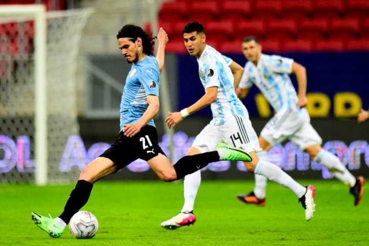 Edinson Cavani Exequiel Palacios Uruguai Argentina Rivalidade