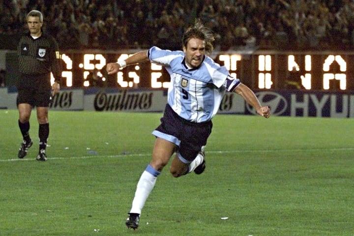 Batistuta played for Argentina under current Leeds boss Marcelo Bielsa