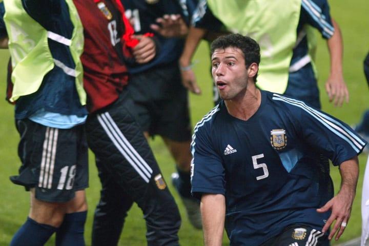 Argentina's soccer player Javier Mascher