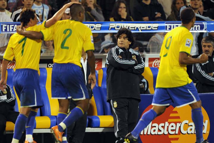 Argentina Brasil Maradona Eliminatórias Copa do Mundo