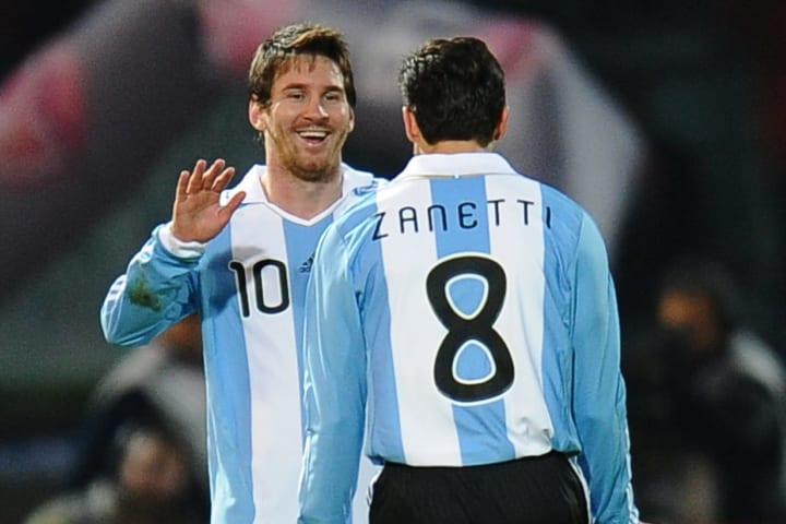Lionel Messi Javier Zanetti Parceiro Carreira Seleção Argentina